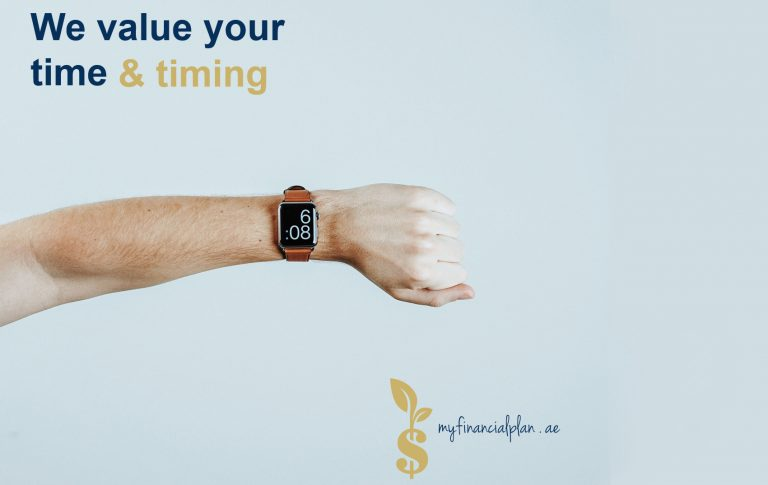 We value your time - hand with smartwatch