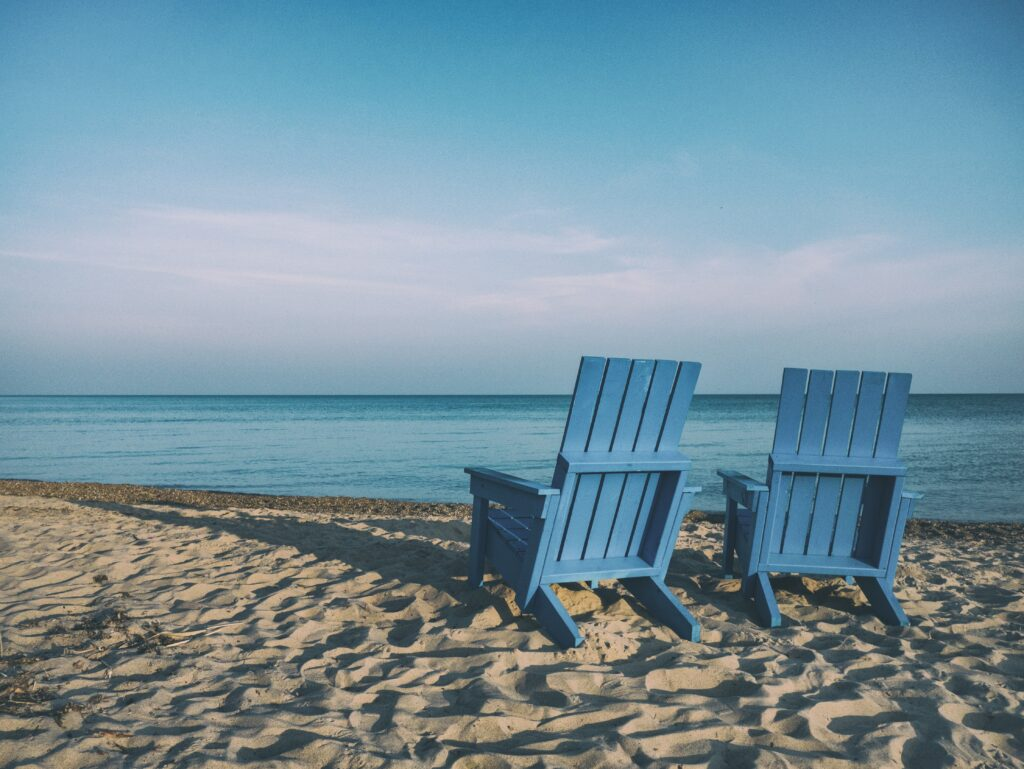 Retirement life- two empty chairs